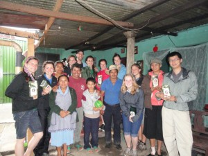 Operation Groundswell and NGO-partner As Green As It Gets, pose with their freshly roasted coffee