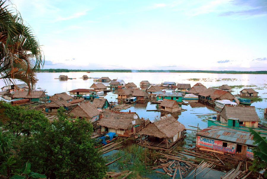 The floating villages of Iquitos