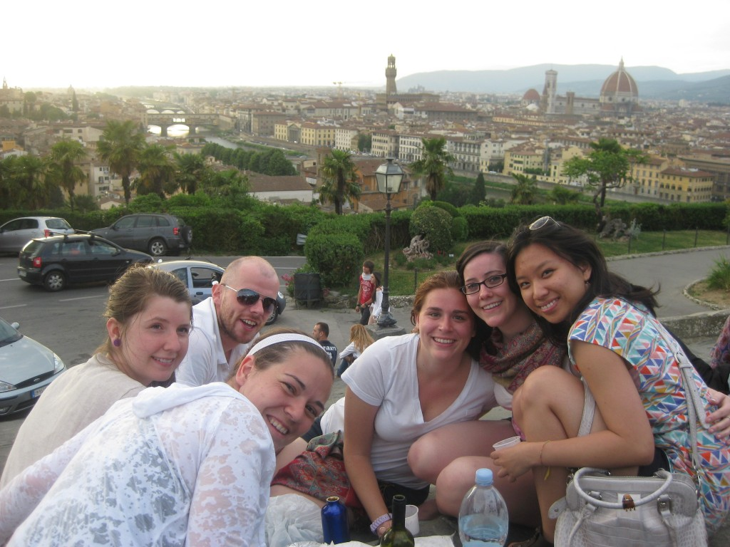 My little family in Florence