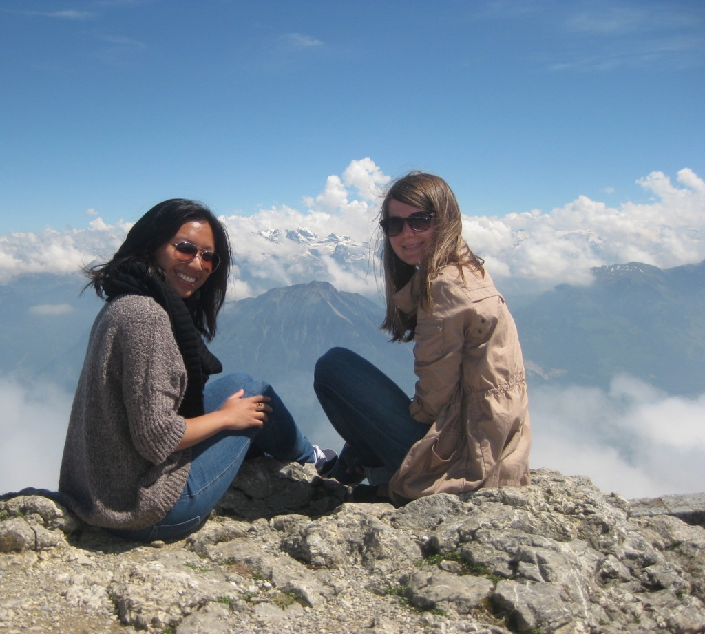 Sylwia and I up top Mount Pilatus