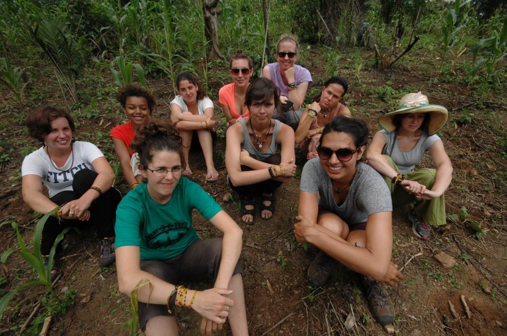 The team gearing up to plant cassava in Wlitodzi