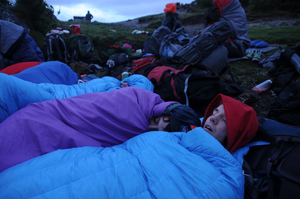 A mountain top snooze and snuggle