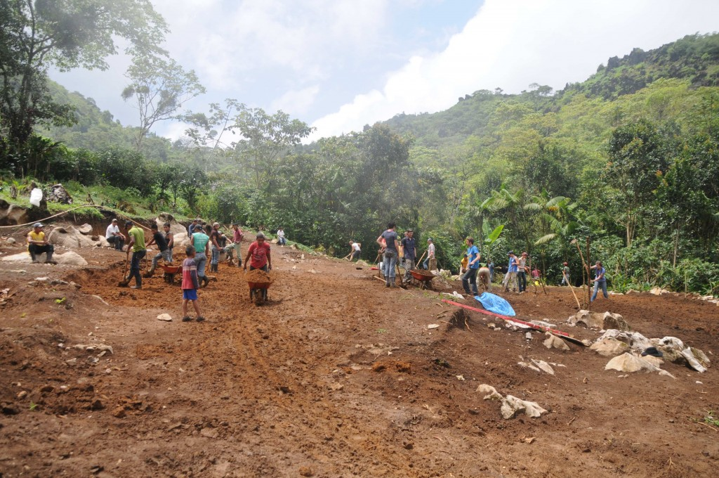 Clearing out the land at Tzibal, Guatemala