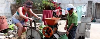Making coffee in Guatemala