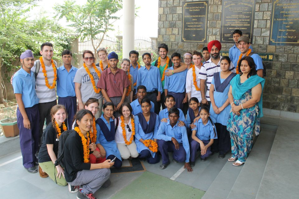 Operation Groundswell with the Patiala School for Deaf and Blind