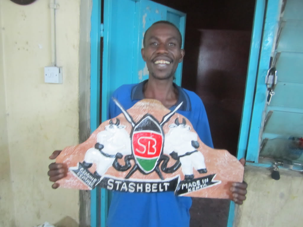 Stashbelt is produced in Nairobi, Kenya