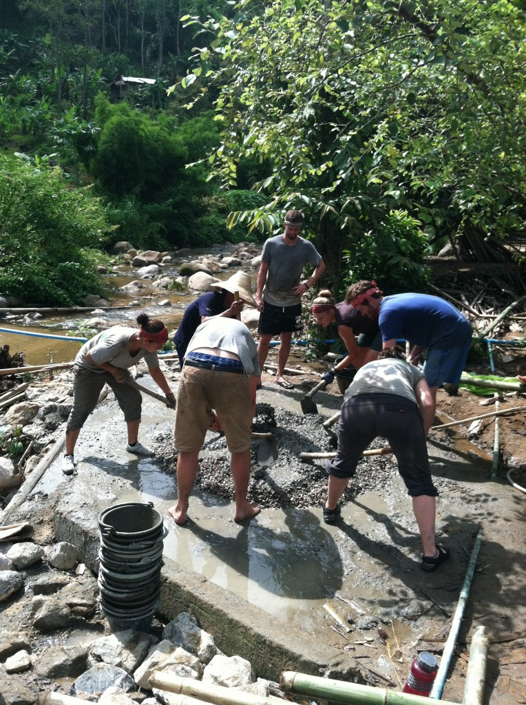 Working to build a bridge in Chiang Mai