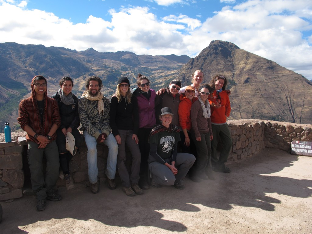 Enjoying the view at the Pisac ruins