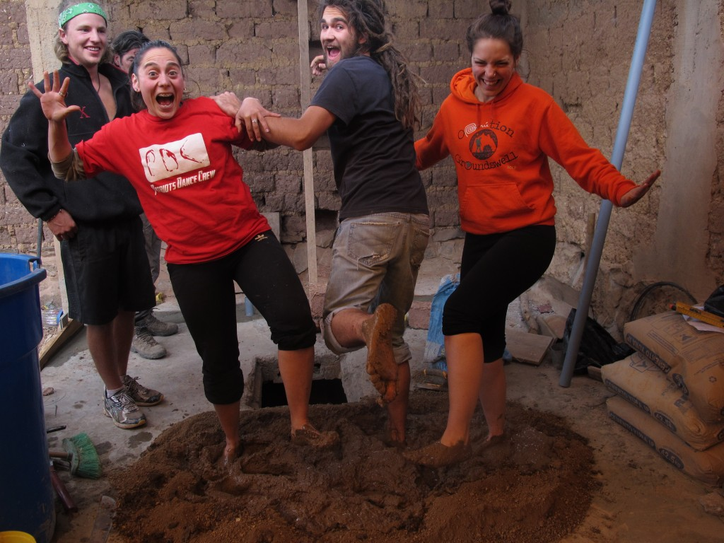 mud and dirt