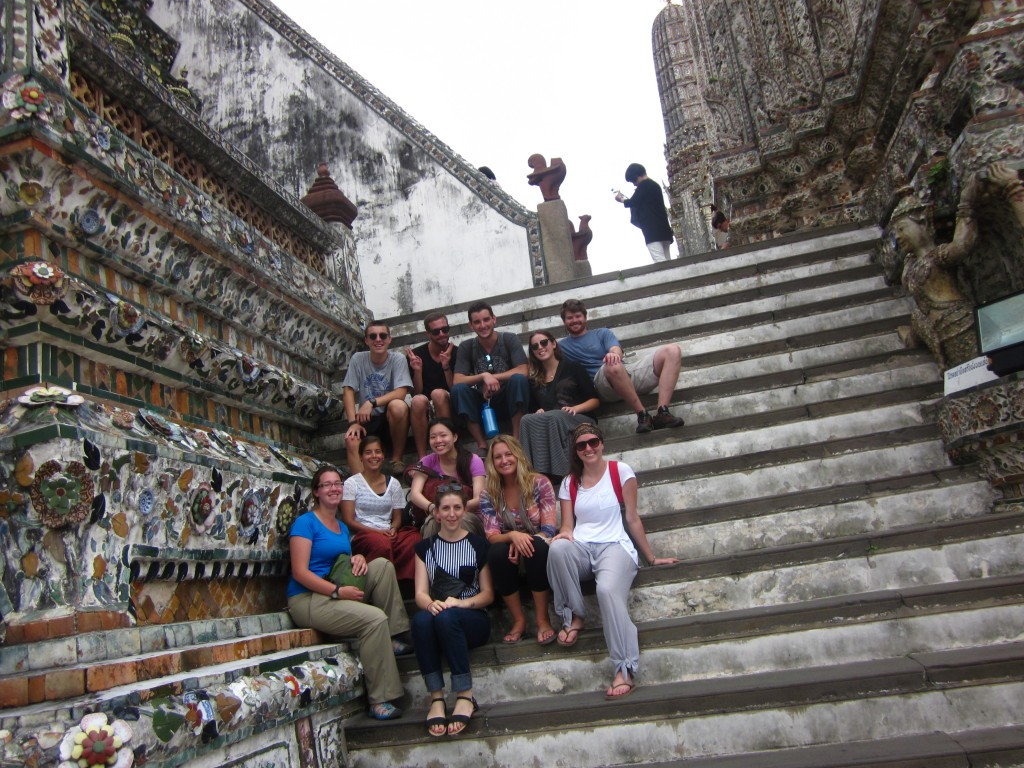 At the Wat Arun temple in Bangkok