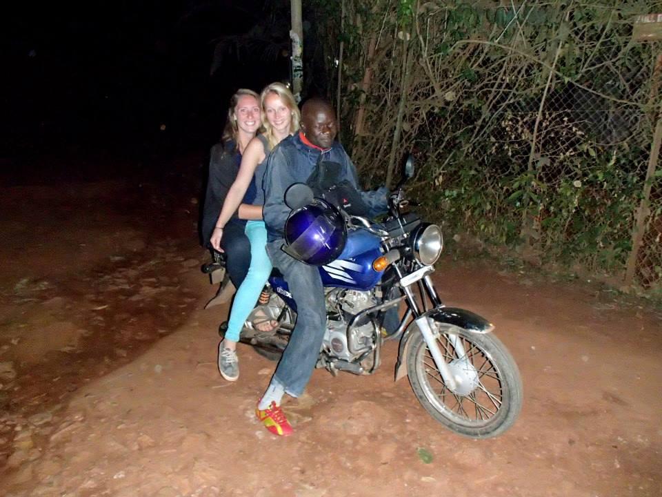 Riding on a boda boda