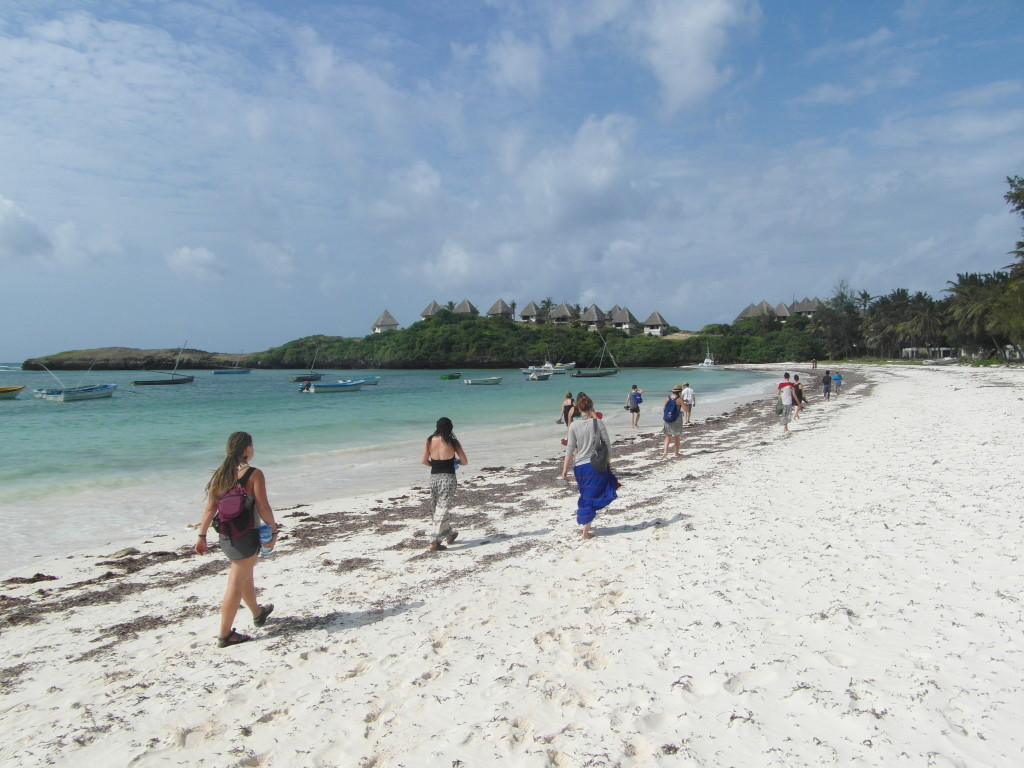 The white sand beaches of Watamu