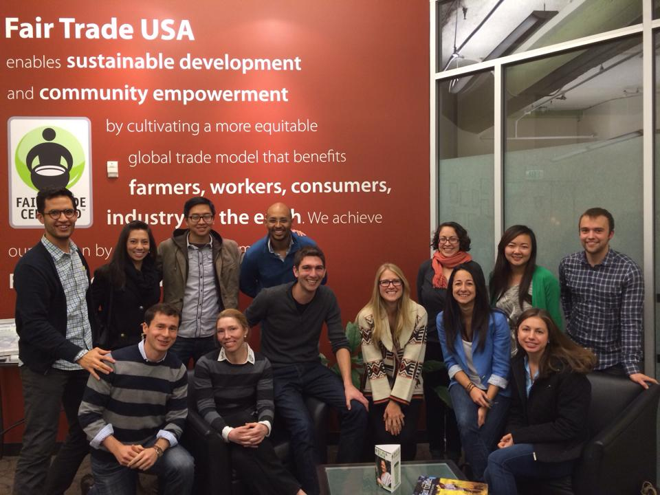 Stanford MBA students at Fair Trade USA