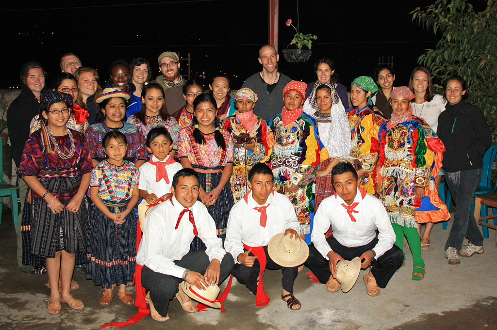 Our 2011 crew with Escuela La Paz and Mayan dance troup