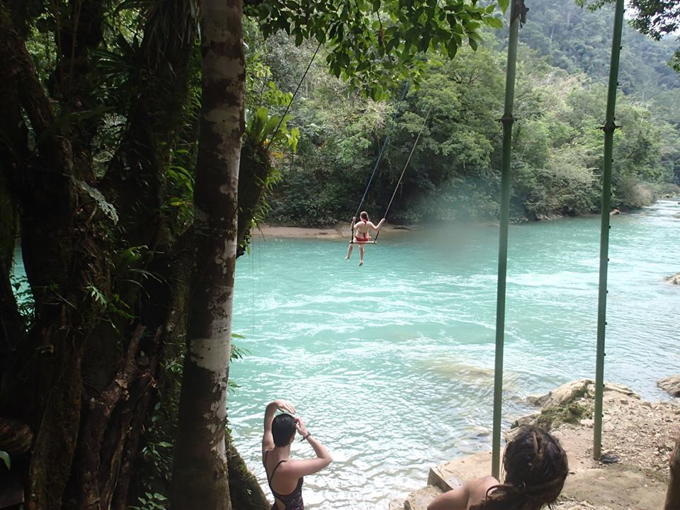Swinging in Sempuc Champey