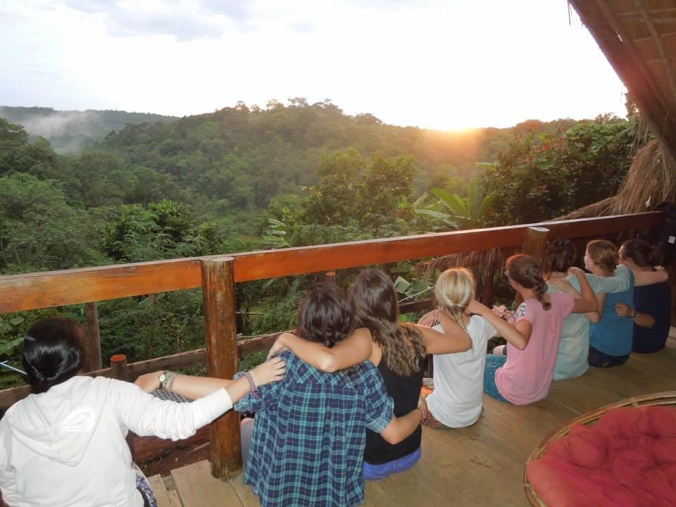 Team Watching Sunset