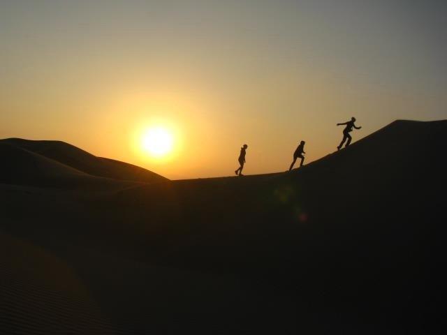 climbing dunes