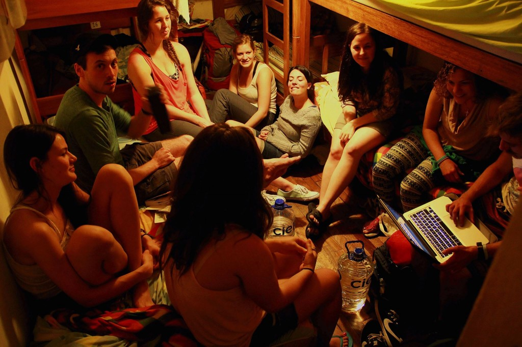 Group bonding in the hostel. Photo by Joey Lau.