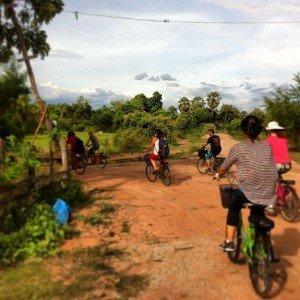 Biking with the team