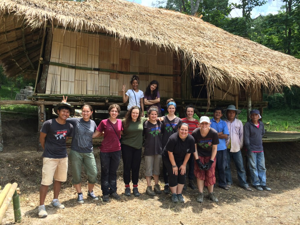 Our team helped to build this bamboo home in the Akha village.