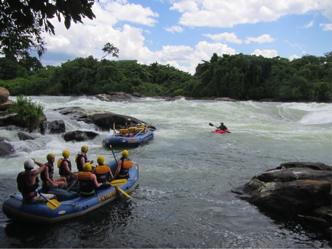 Rafting on the Nile River in Jinja