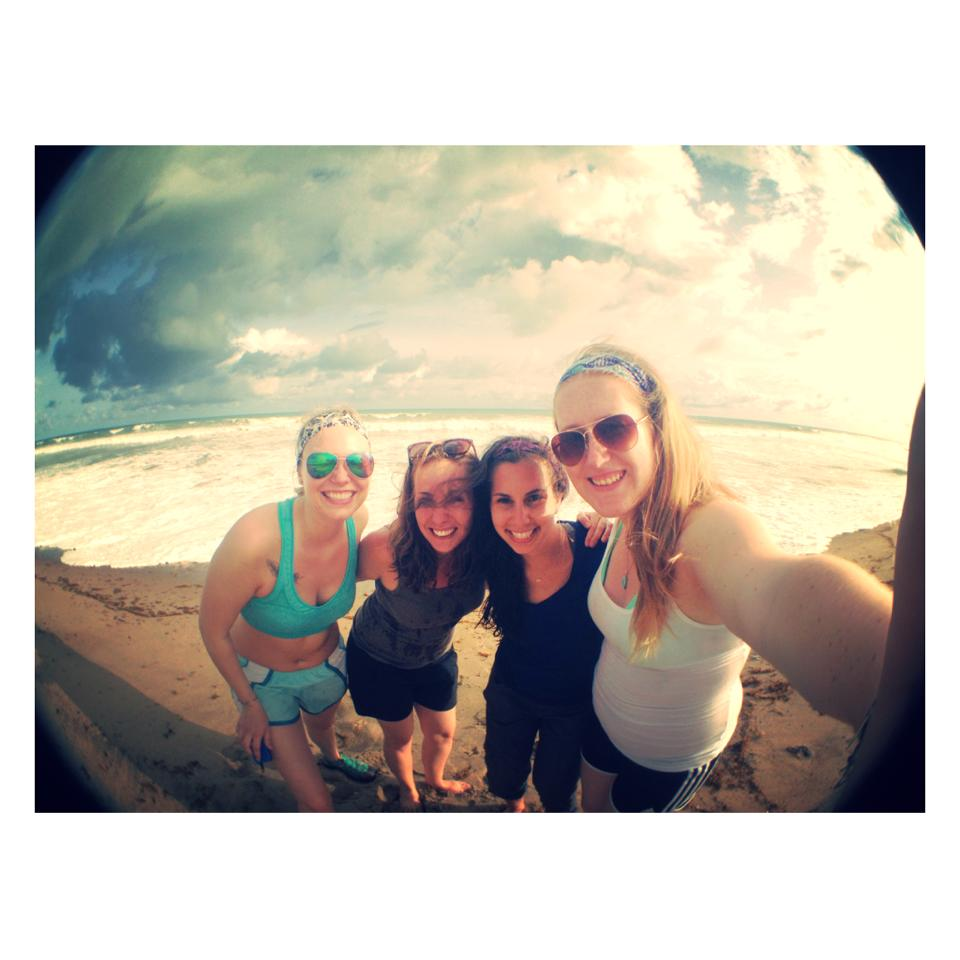 Sonja, Michelle, Alicia and Claire enjoying the coastal town of Ada Foah