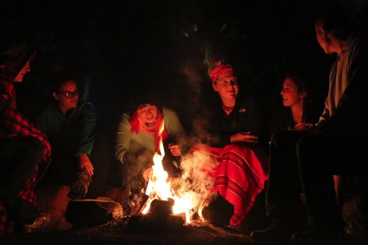 Campfire by the shores of Lake Naivasha