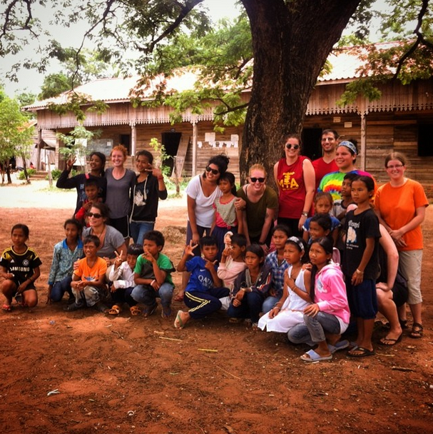 Team photo with our partners at Banteay Chmmar