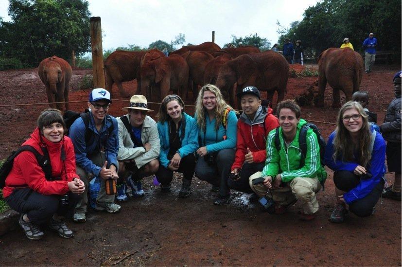The team at the David Sheldrick Wildlife Trust