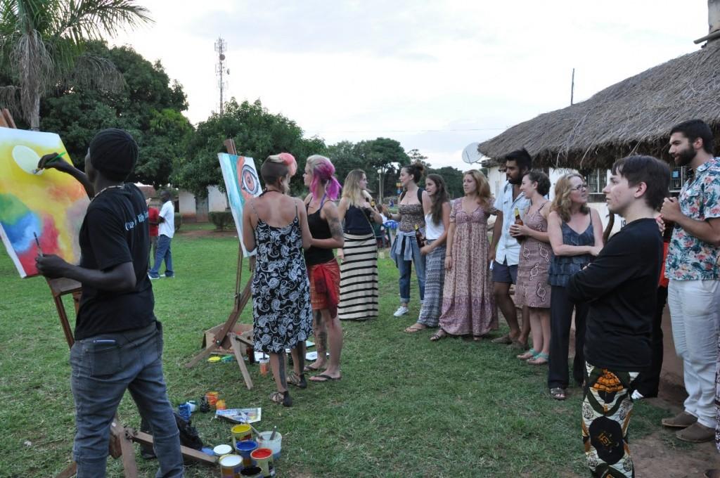 The CVAP crowd enjoying live painting at the Gulu Diaspora Arts Showcase