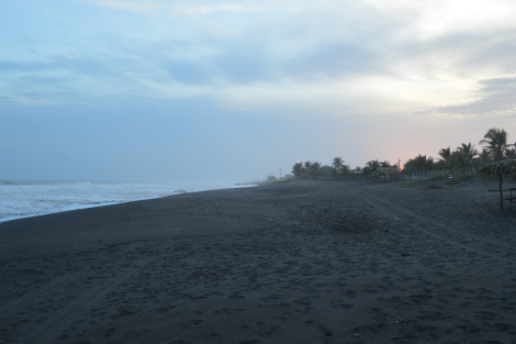 Volcanic sand at El Paredon