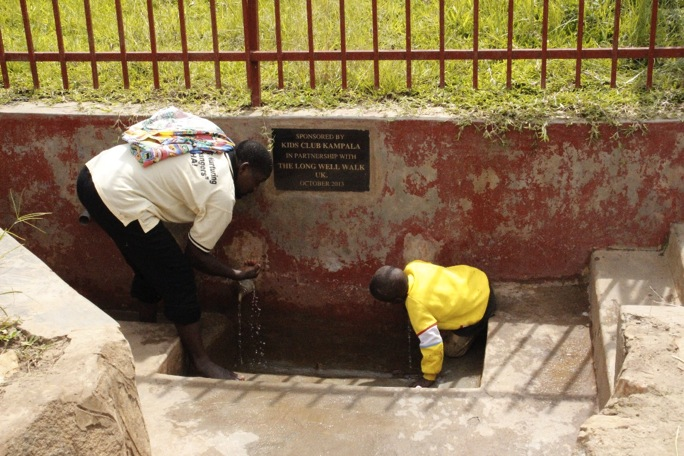 A community well, sponsored by Kids Club Kampala