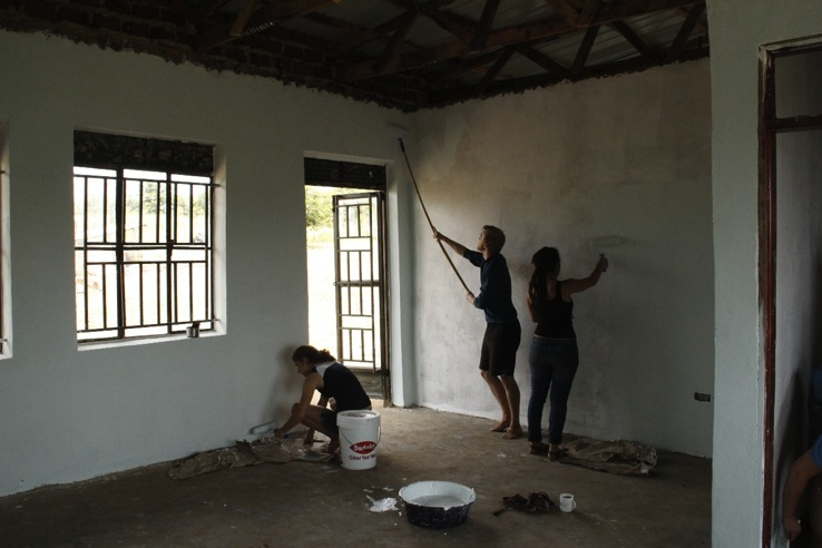 Hard at work painting for the Ewafe Project.