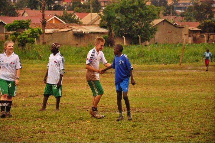 Playing Football in Uganda
