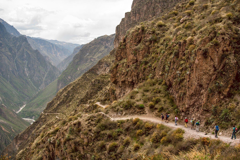 Hiking through the Colca Canyon by Robyn Boyd
