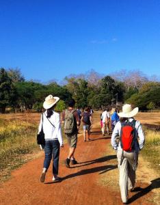 Walking through Banteay Chhmar