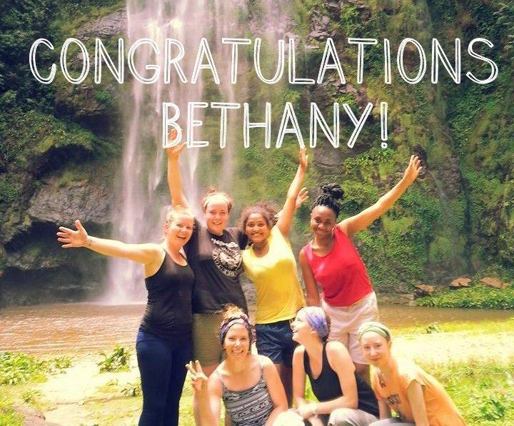 Congrats Bethany