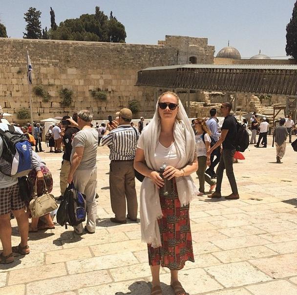 Hannah Kirzinger at the Wailing Wall