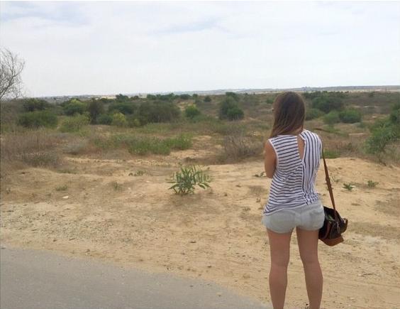 Looking out at Gaza