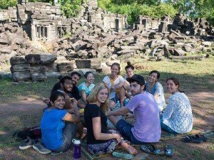 Surprise breakfast at Banteay Chhmar Temple