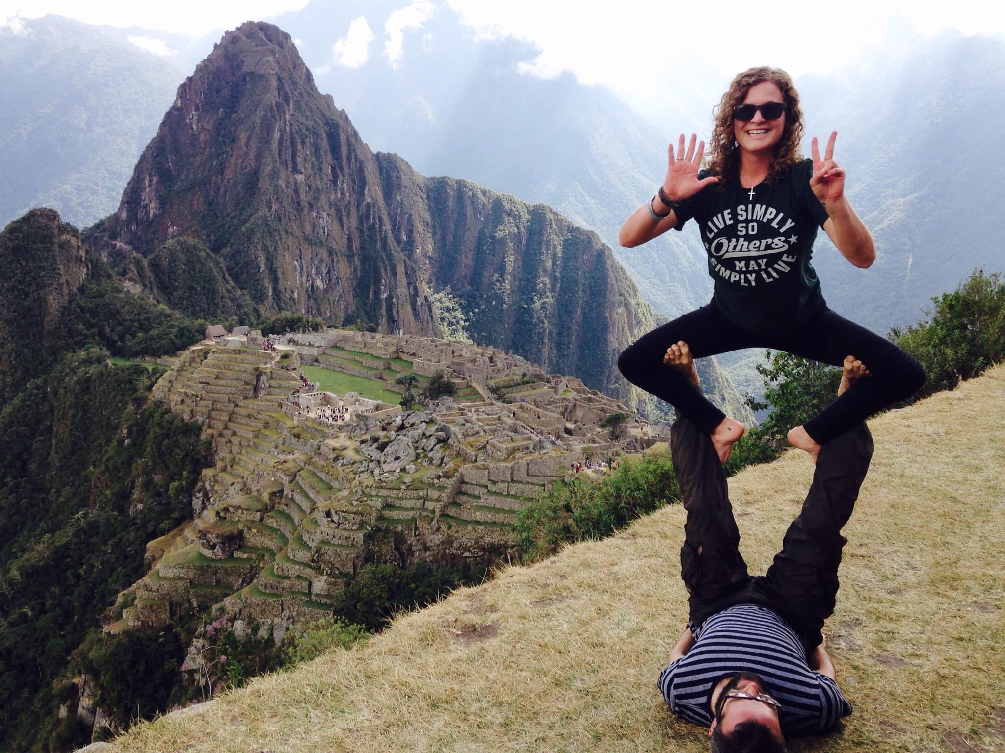 Yoga at the summit.