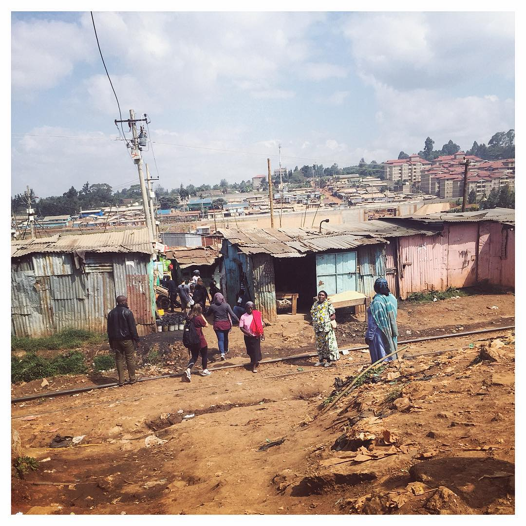 Entering Kibera