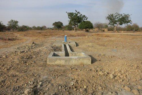 Kadema borehole in the making. Photo by Ghana Medical Help