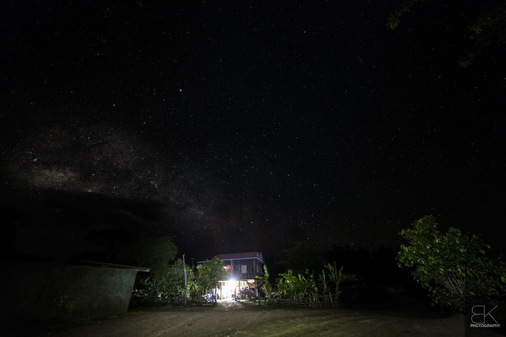 6. Sisophon Homestay: One of my favourite locales during our travels - stars burst through the darkness in rural Mongkul Borei province.